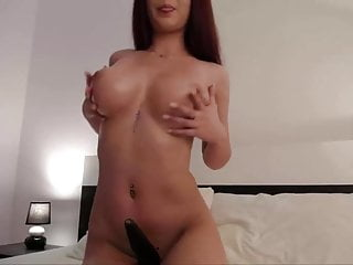 masturbation in hotelroom and show big tits