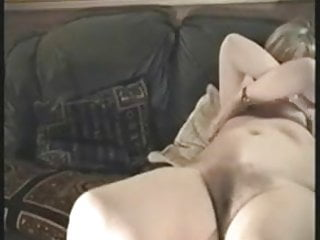 Mature heather sucking a cock the couch...