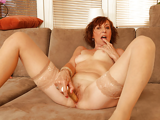 granny masturbator a is Danina 64-year-old Euro passionate