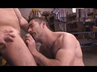 strong and handsome gay stud got his dick sucked off