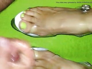 high ans clear toes Cum heels sexy stripper on