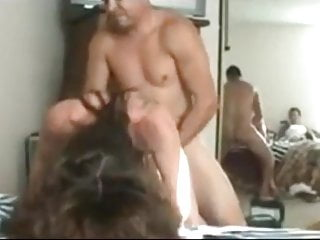 Hubby Films His Young Wife Gets Hard Pounded By Neighbor
