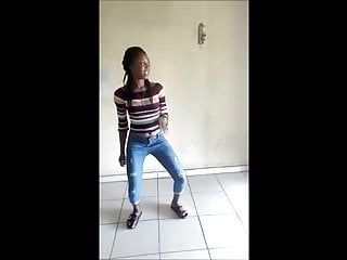 African sweetie performs nice dance...