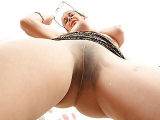 English gilf josie covers her hairy fanny with...
