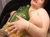 Fat russian mature masturbates