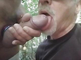 je pompe une grosse queue dans le bois