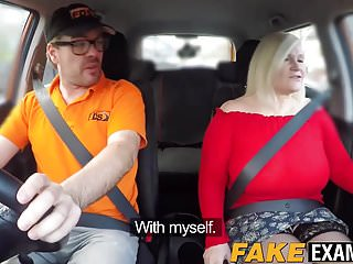 Slut bouncing on cock at her driving class...