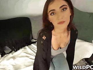 Luci Diamond throated before POV bondage banging