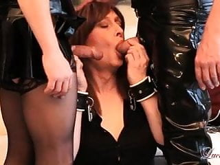 Horny tgirl luci may spanking and blowjob threesome...