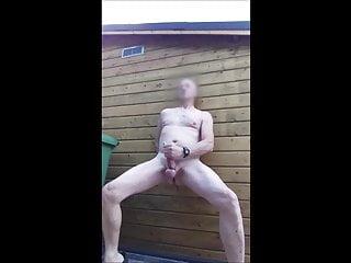 public outdoor exhibitionist bondage edging lube cumshot