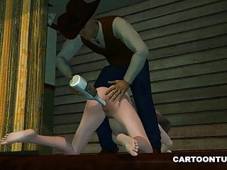 Getting Toyed Spanked Cowgirl and 3D