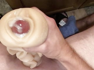 Reverse cream pie. Cock out the pussy. Fleshlight