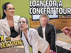 LOAN4K. Girl needs musical instruments and decides to fuck for loan