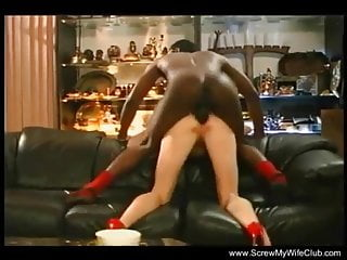 BBC fucks white wife in front of two white guys