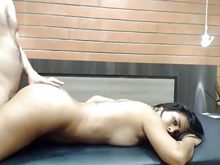 very hot pretty latin bitch fucked doggy on her good ass
