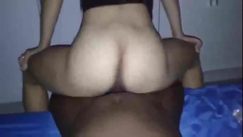 Ebony Bbw Riding White Cock