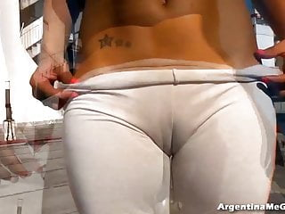 Cameltoe Queen Wetting Her Pants with No Panties under. HOT!