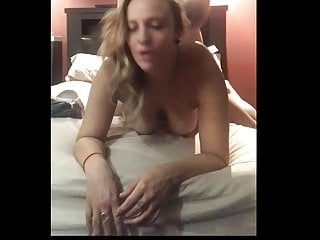Doggy Facing the Camera with Swinging Tits!!