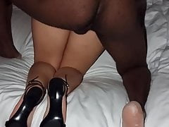 My wife enjoying another cool BBC