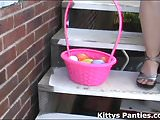 Come help me hunt for Easter eggs in the backyard