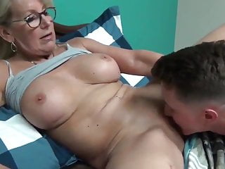 Horny Milf With Young Boy