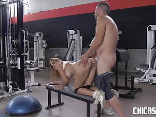 Chicasloca spanish ravished gym...