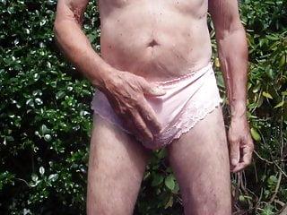 Pink lacy panties get wet (1)