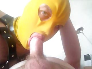Blowjob and fucking with latex boy...