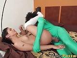 Gorgeous Latin shemale Jessi Martinez gets pounded hard