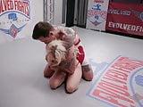 Petite Nikki Delano challenges Will Hvoc in wrestling