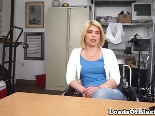 Blonde amateur pounds...