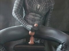 Spiderman Tries His New Toy (KwolfT, Monster Dildo)