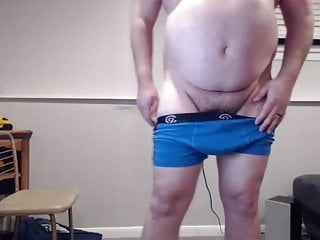 Cute chubby straight jock strips n cums