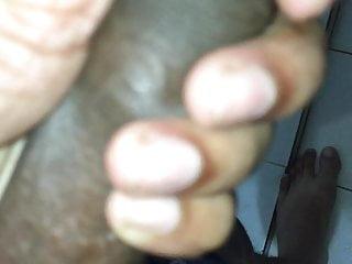 Vergin dick dripping water