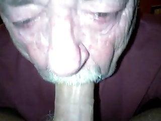 Young man old man blow job...