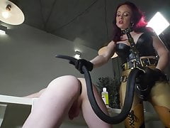 My favorite: humiliating My slave with My strapon