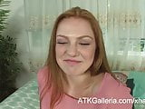 Farrah Flower power hour masturbating her clean shaven pussy
