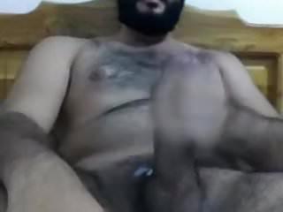 Hairy uncut bearded latino big fat dick...
