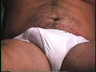 Marine in tighty whities jacks off his thick cock