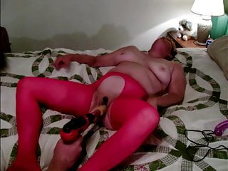 Mature Granny being  Power Drilled by a Drilldo