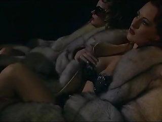 Blowjob Girl Masturbating video: Woman in fur coat sex in cinema
