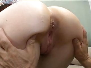 Older mature dude with huge cock gets blowjob from hot slut before fuck
