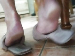 candid soles in slippers