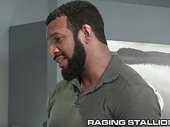 RagingStallion Ebony Daddy Fucks Coworker On His Desk