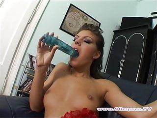 Eastern European Brunette Fingering  Her Juicy Pussy