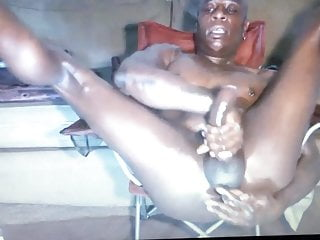 Straight daddy having dildo fun with verbal talk...