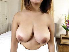 Big Thai boobs bounce while fucked raw