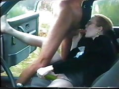 Wife carsex with voyeur
