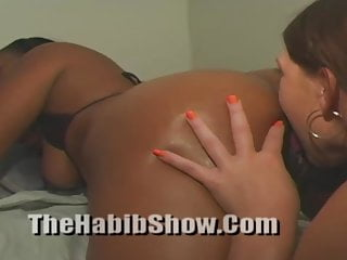 Chocolate syrup Lesbians with a PAWG and Black Booty