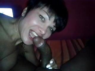 Deborah Bianchini Trans suck a huge cubanian cock
